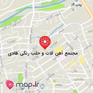 نقشه مجتمع آهن آلات و حلب رنگی هادی