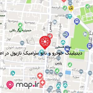 نقشه دیتیلینگ خودرو و نانو سرامیک نازیول در اصفهان