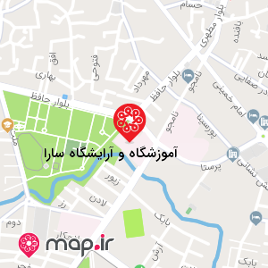 نقشه آموزشگاه و آرایشگاه سارا