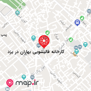 نقشه کارخانه قالیشویی بهاران در یزد