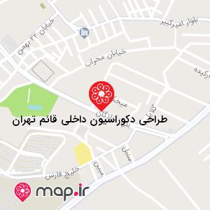 نقشه طراحی دکوراسیون داخلی قائم تهران