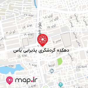 نقشه دهکده گردشگری پذیرایی یاس