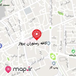 نقشه کافه رستوران پرواز
