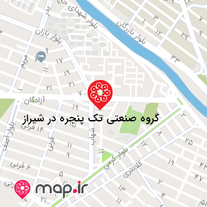 نقشه گروه صنعتی تک پنجره در شیراز