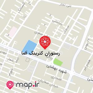نقشه رستوران کترینگ آلما
