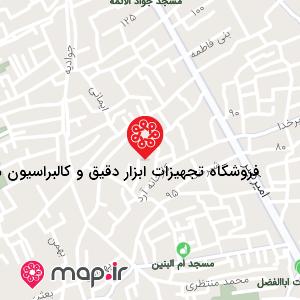 نقشه فروشگاه تجهیزات ابزار دقیق و کالیبراسیون مجید