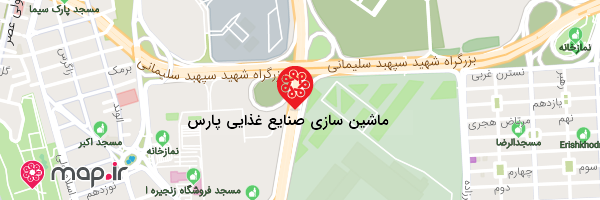 نقشه ماشین سازی صنایع غذایی پارس