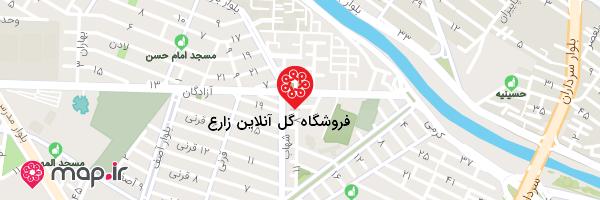 نقشه فروشگاه گل آنلاین زارع
