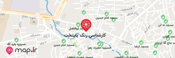 نقشه کارشناسی رنگ پایتخت