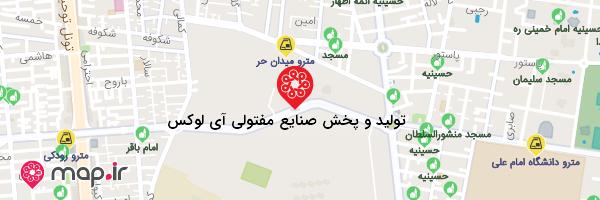 نقشه تولید و پخش صنایع مفتولی آی لوکس