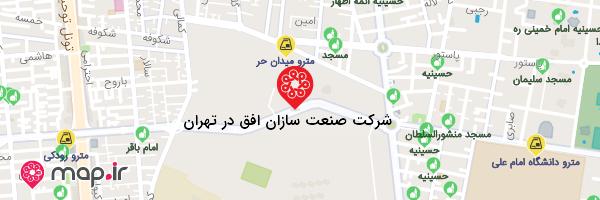نقشه شرکت صنعت سازان افق در تهران