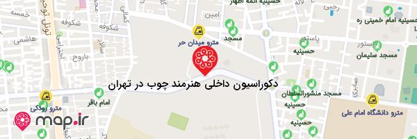 نقشه دکوراسیون داخلی هنرمند چوب در تهران