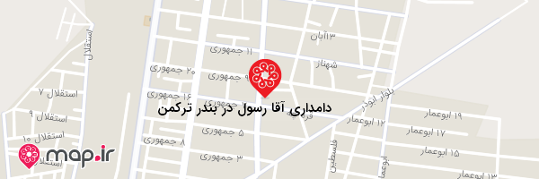 نقشه دامداری آقا رسول در بندر ترکمن
