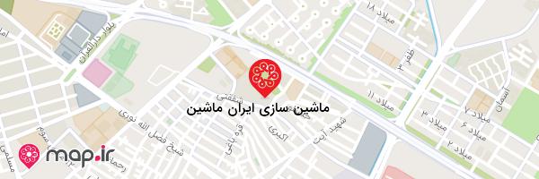 نقشه ماشین سازی ایران ماشین