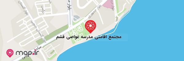 نقشه مجتمع اقامتی مدرسه غواصی قشم