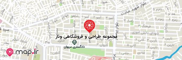 نقشه مجموعه طراحی و فروشگاهی ونار
