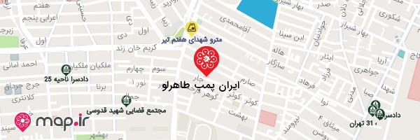 نقشه ایران پمپ طاهرلو