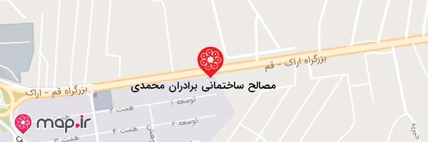 نقشه مصالح ساختمانی برادران محمدی