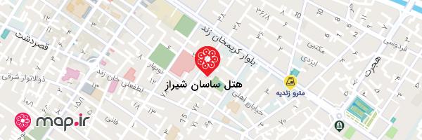نقشه هتل ساسان شیراز
