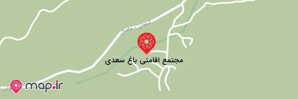 نقشه مجتمع اقامتی باغ سعدی